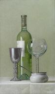 正田徳衛「テーブルワインとゴブレット」M6