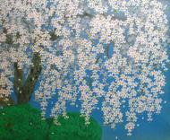 中島千波「天龍寺の枝垂桜」10F