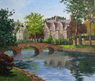 今関アキラコ 油絵展 「コッツウォルズの村」