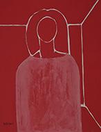 「赤い女」 油彩 6F