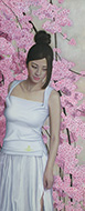 光元昭弘 余白の創造…枝垂桜と君  変形25号
