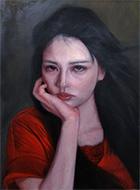 大橋周平「風に吹かれて」4F キャンバス、油彩