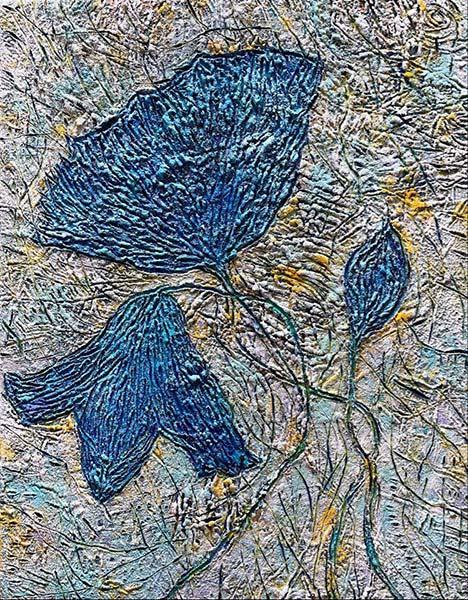 伊藤由華 「紡ぐ」 F6号 キャンバス、アクリル、油彩