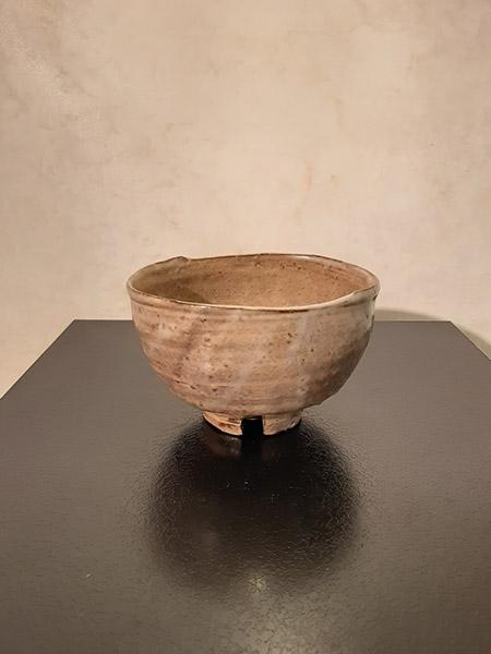 新庄貞嗣 萩筆洗茶碗 幅13.5×11.6×高8.5cm