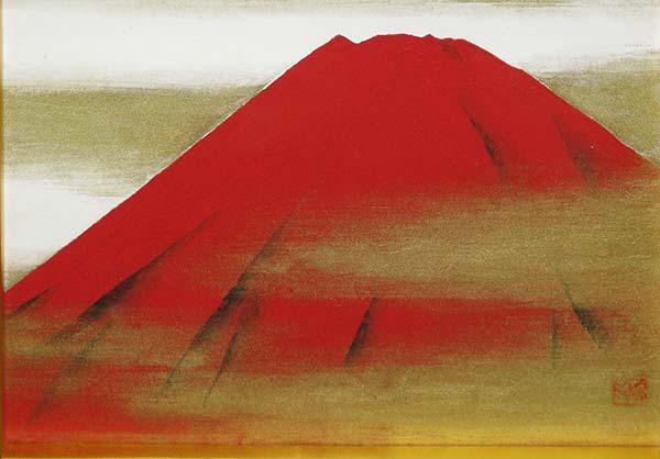 小山硬 「赤富士」 SM