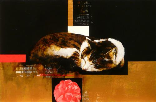 「眠り猫」  6P