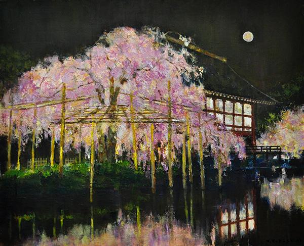 「平安神宮の夜桜」  F15