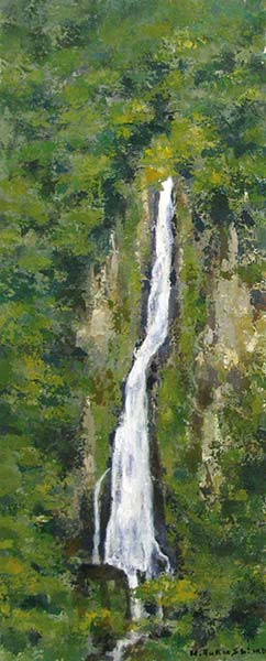 「雌滝(九重の滝) 」 54.5×22.0cm