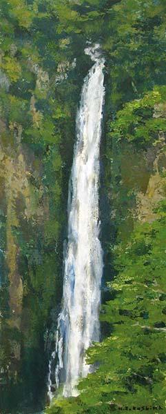 「雄滝(九重の滝)」  54.5×22.0cm