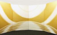 「宇宙の光 CURRENT B-85」 175x112cm (屏風4枚組)