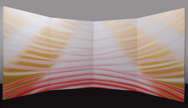 「CURRENT B-100 希望の光」  175×448cm(屏風)