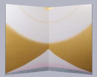 「#CURRENT B-103 富士山から宇宙へ」 パネルに和紙 混合技法(パステル・アクリル・他) 175cmx112cmx2枚組
