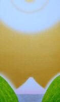 「CURRENT W-1600 新緑と富士と宇宙と」 20号 和紙、混合