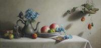 「桃とプラム」 800×400mm