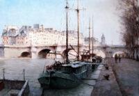 「セーヌ川と舟」 15M