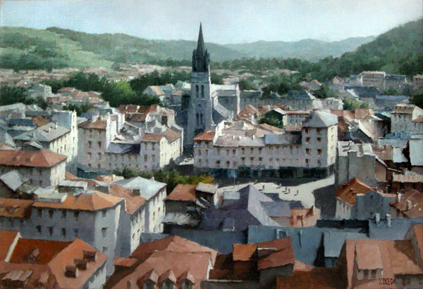 『ルルド旧市街とサクレクール教会』  12M
