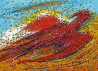 「赤富士と鳳凰」 F4
