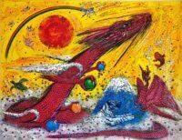「太陽と四神」 F30号