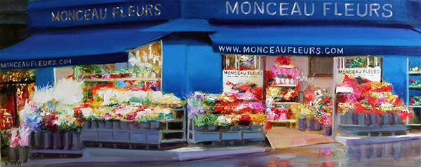 『モンマルトルの花屋』 117×47cm