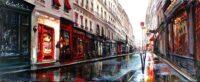 「雨の朝」 116×47cm