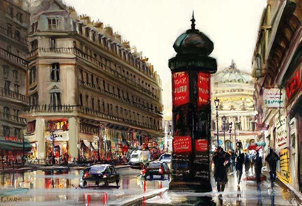 岩見健二 「雨上がりのオペラ通り」 20M