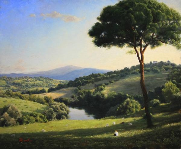 『A View Though Roman Pine Tree』  25F