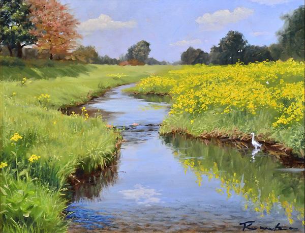 『春の野川』  6F