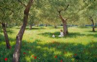「オリーブ畑の木陰」 M40