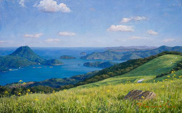 『島々を望む丘陵』  10M