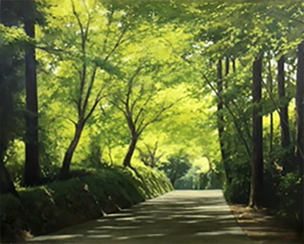 「新緑の月見坂」  8F