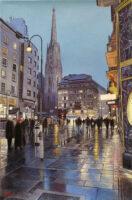 「雨の広場・ウィーン」 6P
