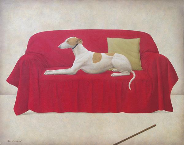 「Uccelloの犬」  72.8×90cm