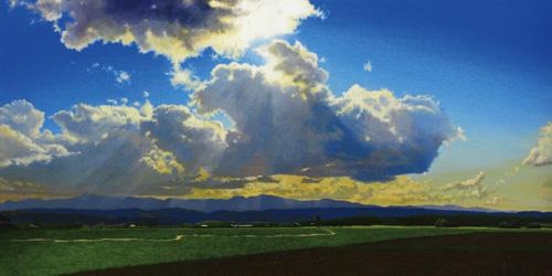 『光る宙(ソラ) - 富良野 -』  450 × 900mm
