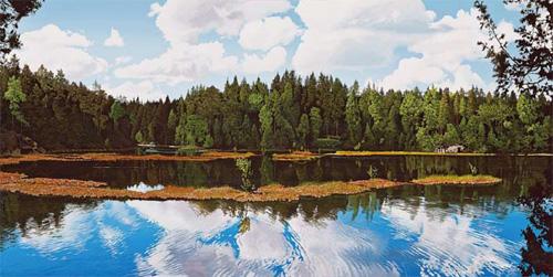 「フィンランド 風の舞台」  45×90cm