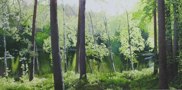 「たまゆら宿る妖精の森」  450×900mm
