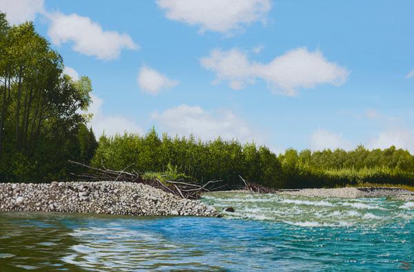 「夏の川辺」  4P