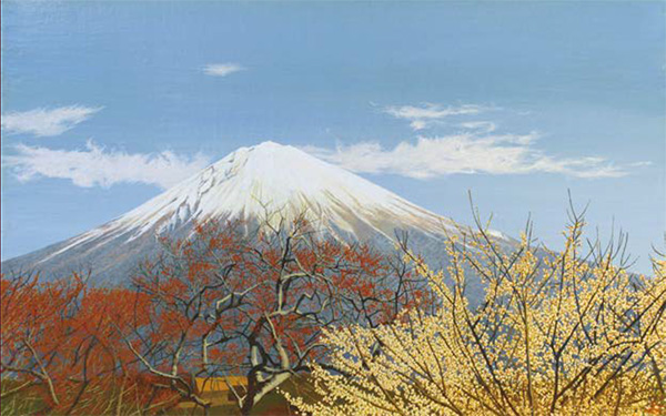 「開花の富士」 (油彩)10M