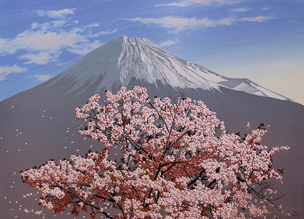 「桜風の富士」  8P