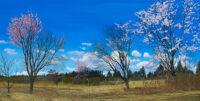 「風の桜」  45×90cm