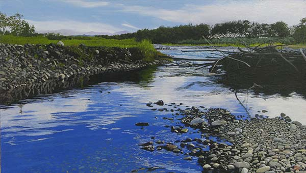 百瀬智宏 「夏も暮れる水面」 M4