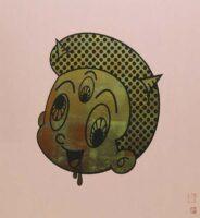 「餓鬼(ピンク)」 S20・72.7×72.7cm