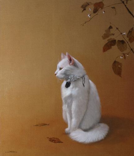 「寂光白猫図」  10F