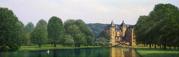 「ビジューユの古城」  72.7×23.7cm