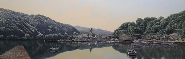 「天草の天主堂 﨑津教会」 145.7×48.6cm