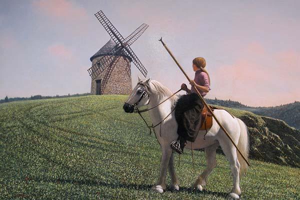 「風車の丘 プロバンス」 M30号