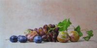 「葡萄とプラム」 10号変形