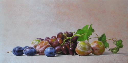 『葡萄とプラム』 10号変形