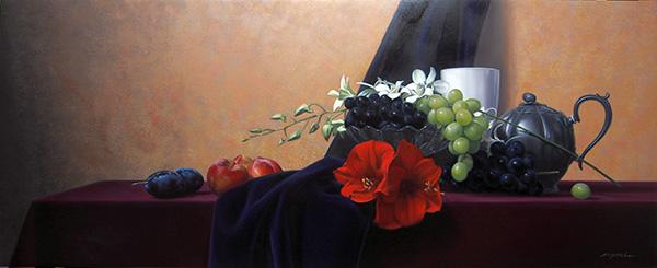 『花と果実』 40.5×100cm
