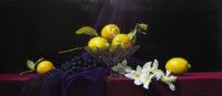 「檸檬、葡萄、蘭」 40.1×90.9cm