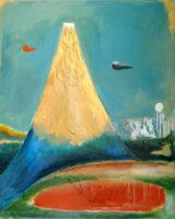 「大岡信の詩-産卵せよ富士」 仏40号(100×81cm)